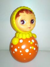 Vintage Rare Russian Nevalyashka Celluloid Plastic Roly Poly Toy Doll USSR 22cm