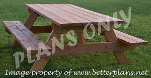 Plans To Build Beautiful Strong Picnic Table For 6 Patio