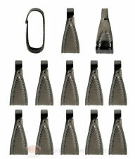 (10) Gunmetal Plated Pendant Necklace Jewelry Making Bails 10mm Snap Bail