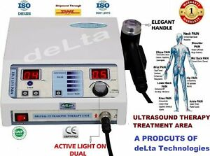 New Portable 1Mhz Ultrasound Therapy Compact Model Digital Therapeutic @#f%