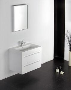 Ensemble de salle de bain, T730,blanc, lavabo et meuble sous vasque ...