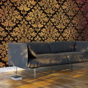 Fototapete ornamente vlies tapete wandbild wandtapete schwarz gold f a 0470 a a ebay - Tapete schwarz gold ...