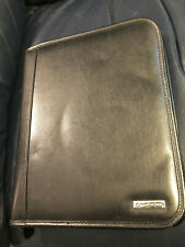 Franklin Covey Classic Black Genuine Leather 7 Ring Binder