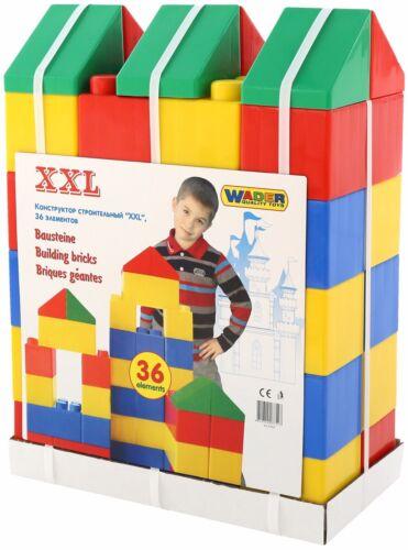 Wader XXL Blocs de Construction Énorme Spielbausteine Pièces Baublöcke