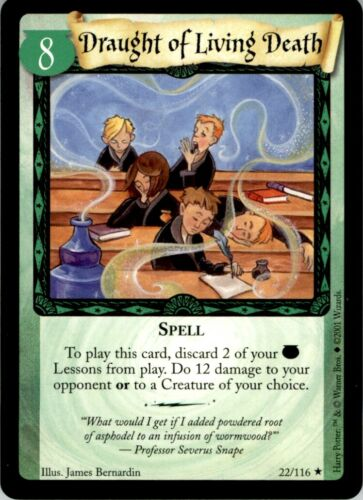 Draught of living death Spell #22 Wizards Harry Potter Trading Card Game 2001
