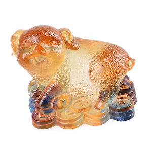 image is loading liuli crystal chinese zodiac ornament cute pig table