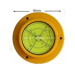 90-x-12-mm-Round-Spirit-livellatore-Livella-a-bolla-d-039-aria-Caravan-Camper-Gru-Dumper