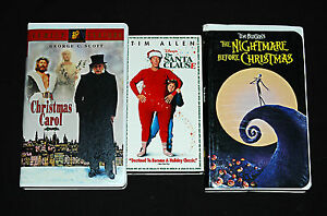 Tim Burton Christmas Carol.Details About Christmas Vhs Movie 3 Videos Tim Allen Tim Burton George C Scott Kids Films