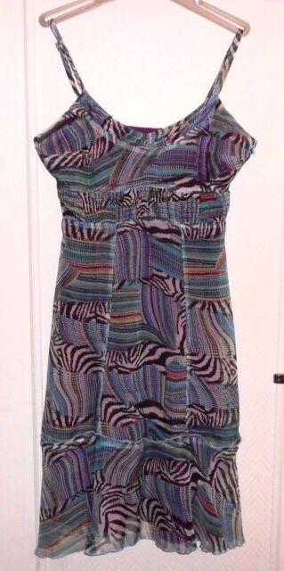 Jolie robe voile vert violet… SALT & PEPPER T 40 TBE