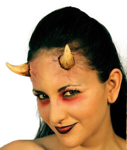 SMALL-LADIES-DEVIL-HORNS-TWO-STICK-ON-APPLICATION-GRUESOME-HALLOWEEN-HORROR