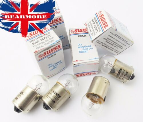 4PC CLEAR MOTORBIKE INDICATOR LIGHT SIDE BLINKER BULBS 12V 10W   Ba15s 18MM
