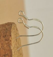 WHOLESALE  25Pairs 18mm  925 Silver Plated Earring Earrings Hooks Ear 50pcs