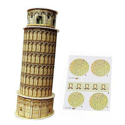 Mini Educational 3D Model Puzzle Jigsaw Leaning Tower of Pisa DIY Toy 8 Pcs