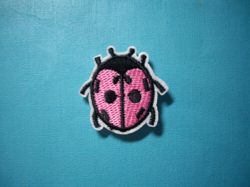 NEW 1 pc PINK LADYBUG  Iron On Embroidered Applique Lady Bug Insect