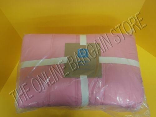 Pottery Barn Teen Puffer Reversible Quilt Full Queen FQ Dark Pink Orange
