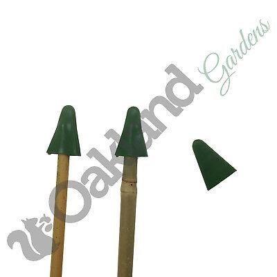 500 x Small Rubber Garden Cane Cap Protectors Top Eye Protection Bamboo />12mm