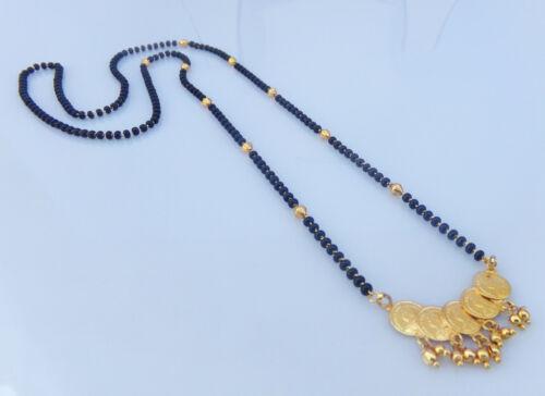 Gold Plated Ethnic Wedding Long Mangalsutra Mala Indian Women Fashion Jewelry