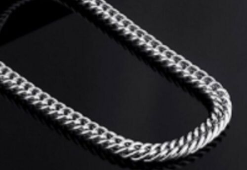 """Gift Bag 14/"""" 38/"""" 3mm Stainless Steel Curb Chain Silver Tone Necklace STCr3S"""