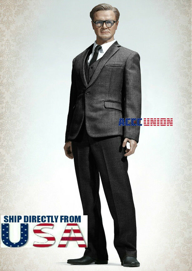1/6 Men Geschäft Suit Set DARK grau For 12