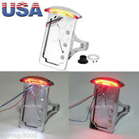 Running Side Mount License Plate Tail Light For Honda Shadow Aero Spirit Vt Vtx