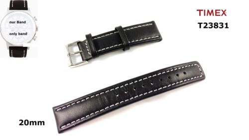 Timex Replacement Band T23831 Leather 20mm Spare Band T23821 T23841 T23851