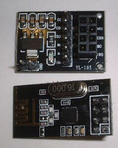 interface 8 pin UK Stock nRF24L01 2.4GHz  Wireless Transceiver Module