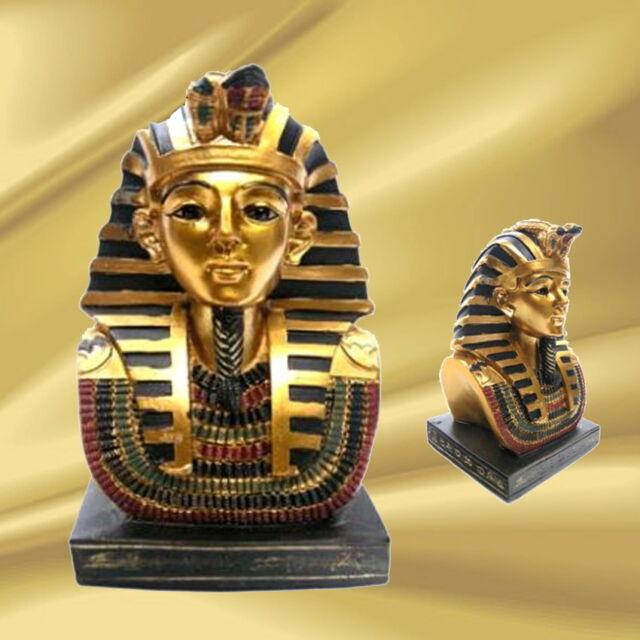 TUTANCHAMUN Büste ÄGYPTISCHER Pharao König wunderschön gearbeitet NEU OVP