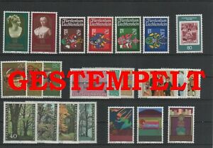 Liechtenstein-Vintage-Yearset-1980-Timbres-Used-Complet-Plus-Sh-Boutique