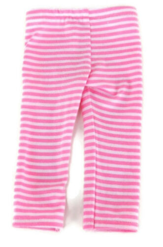 Pink Snowflake Top /& Striped Leggings for 18 inch American Girl Doll Clothes