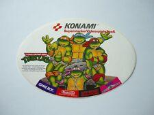ORIGINAL KONAMI TURTLES AUFKLEBER NINTENDO NES VIDEOSPIEL STICKER GAME BOY SEGA