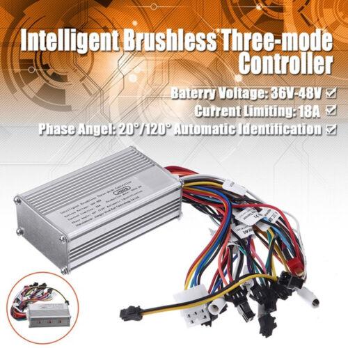 350W 48V 36V Brushless Regulator Controller Speed Scooter E-bike Electric Motor,