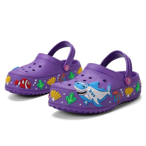 Kids Clogs Toddler Slide Lightweight Garden Shoes Slip-on Beach Pool Slippers UK