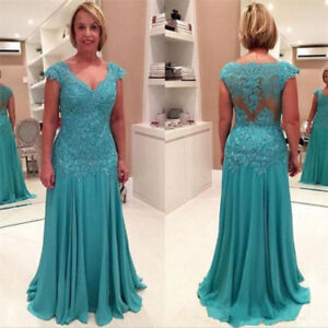 d2de34527b6 Blue Mother of the Bride Dresses Plus Size V Neck Lace Chiffon ...