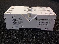 Magnecraft 70-750e8-1 Relay Socket 8 Pin Din Rail/panel 300v 12a (e30s)