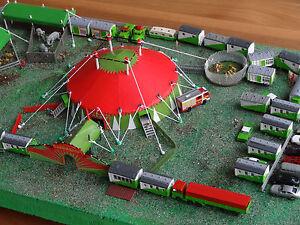 Circus-Sarrasani-Spur-N-Circuszelt-Bausatz-fuer-Modellbahn-Anlage-Circus-etc