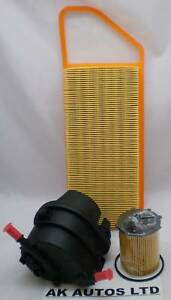 For PEUGEOT 206 VAN 1.4 TD HDi 3PC SERVICE KIT OIL AIR /& DIESEL FUEL FILTER