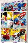1980's Gene Colan Marvel Comics Captain America original color guide art page 46