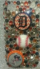 Detroit Tigers MLB bling case 4 iPhone 4s,5,5s,5c,6,Samsung Galaxy S3,S4&S5