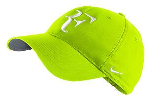 3ec1058f6be NEW Nike Hybrid RF Roger Federer Hat 371202-702 Volt   White Cap