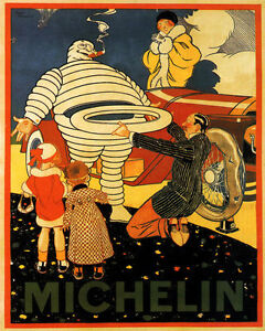 Michelin Car Tires Family Travel 16X20 Vintage Poster Repro FREE S//H in USA