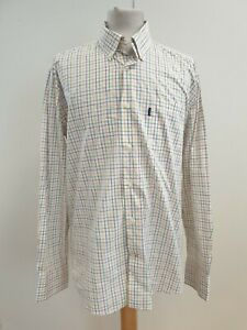 J968-MENS-BARBOUR-WHITE-PURPLE-GREEN-CHECK-L-SLEEVE-REGULAR-FIT-SHIRT-UK-L-EU-52