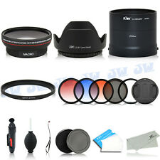 Wide Angle Lens Adapter Graduated Color Filters Kit FOR Nikon COOLPIX L820 L830