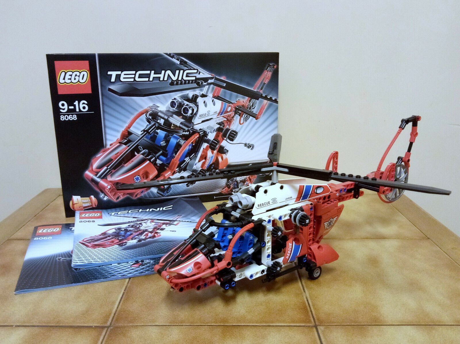 LEGO TECHNIC 8068 HÉLICOPTÈRE COMPLET AVEC BOITE BOITE BOITE (with box boxed) & INSTRUCTIONS 9afeb2
