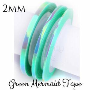 2mm-MERMAID-GREEN-Nail-Art-Opal-Striping-Tape-Line-Roll-Rainbow-Angel-Paper