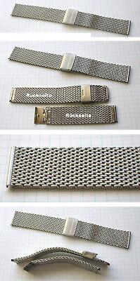 Brave Dickes 22 Mm Milanaiseuhrenarmband Stärke 2,5 Mm Für Quarzuhr Und Automatikuhr Refreshment Wristwatch Bands