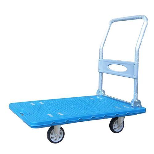Carro de plataforma de servicio pesado transporte de almacén de plástico 300 kg 552166