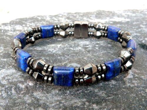 Magnetic Bracelet Gemstone 11 choix Double Force W en forme de losange Hématite