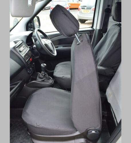 Opel Combo D Waterproof Heavy Duty Tailored Seat Covers Black 2011+ Vauxhall