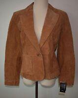 Bernardo Small Leather Jacket Button-front Long Sleeve Snakeskin Blazer