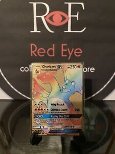 Charizard Gx Rainbow Rare 150/ 147 . Pokemon Burning Shadows METAL CARD